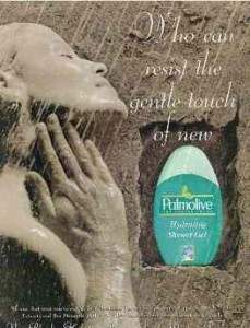 Palmolive shower advert, but it isn't her hand