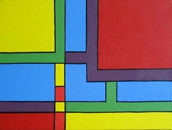 geometric art example with colourful squares